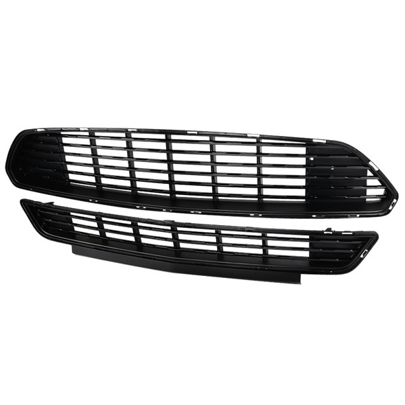 2015-2017 Ford Mustang Black ABS California Edition Style Upper & Lower Grille - 2PC