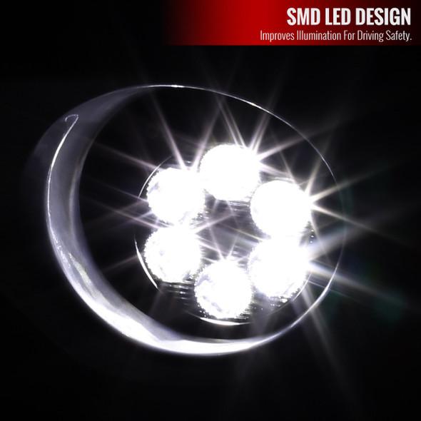 2011-2013 Toyota Highlander 6-LED Fog Lights Kit (Chrome Housing/Clear Lens)