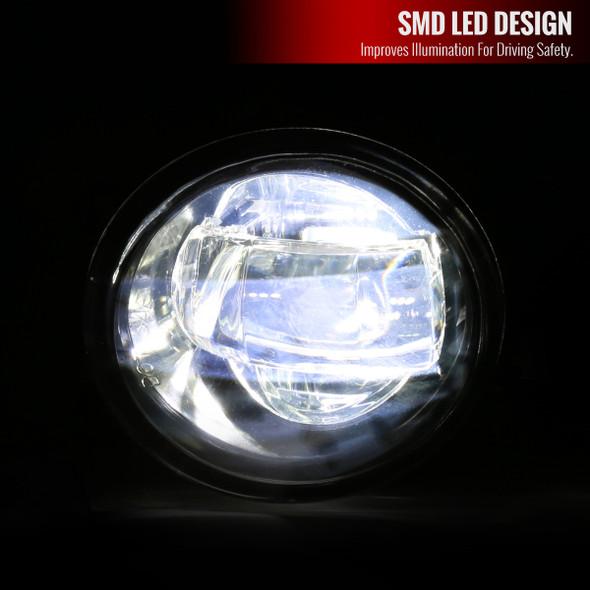 2006-2015 Toyota Lexus SMD LED Projector Fog Lights Kit (Chrome Housing/Clear Lens)