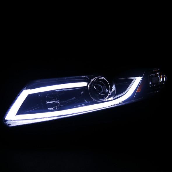 2012-2013 Honda Civic Coupe/ 2012-2015 Civic Sedan LED Bar Projector Headlights (Glossy Black Housing/Smoke Lens)