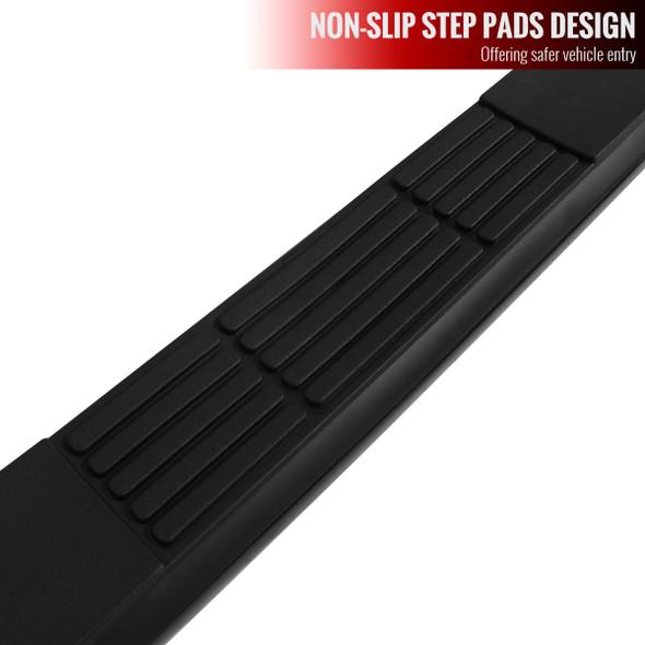 1980-1996 Ford F-150/F-250/F-350 Regular Cab Side Step Bars (Black)