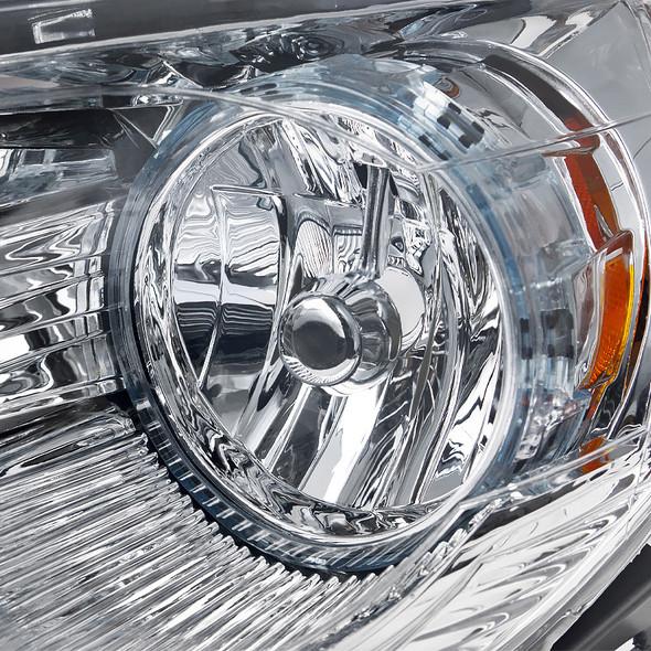 2008-2012 Chevrolet Malibu LS/LT/LTZ/Hybrid Crystal Headlights w/ Amber Reflectors (Chrome Housing/Clear Lens)