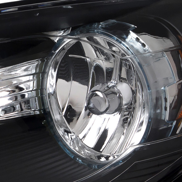 2008-2012 Chevrolet Malibu Factory Style Headlights (Matte Black Housing/Clear Lens)