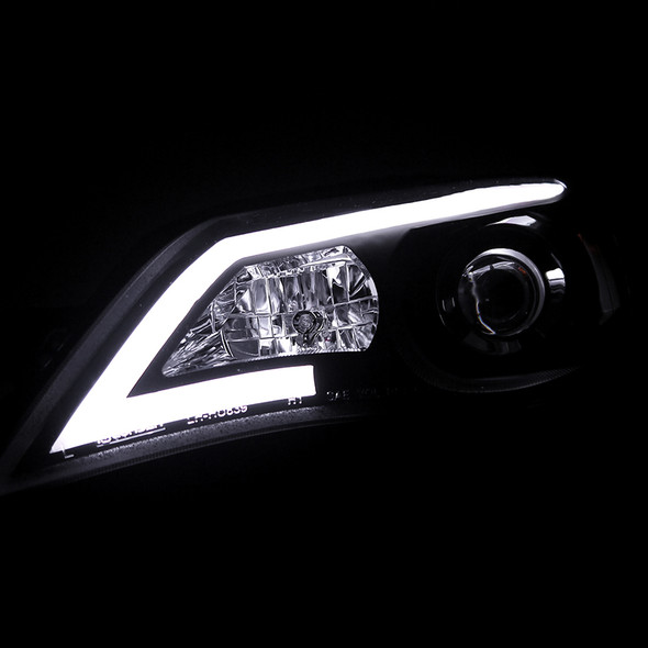 2008-2014 Subaru Impreza WRX/Outback LED Bar Projector Headlights (Matte Black Housing/Clear Lens)