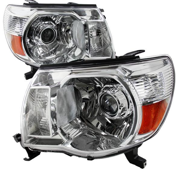 2005-2011 Toyota Tacoma Projector Headlights (Chrome Housing/Clear Lens)