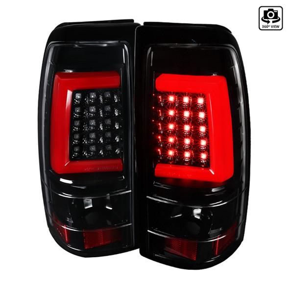 1999-2002 Chevrolet Silverado/ 1999-2003 GMC Sierra LED Tail Lights - G2 (Jet Black Housing/Clear Lens)