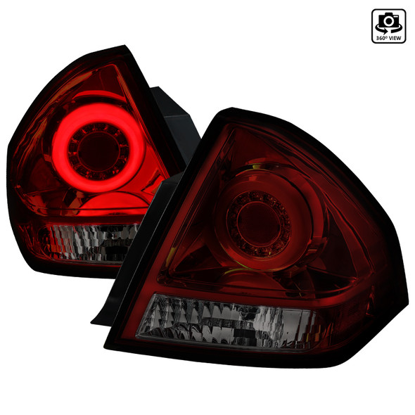 2006-2013 Chevrolet Impala/ 2014-2016 Impala Limited LED Tail Lights (Chrome Housing/Red Smoke Lens)