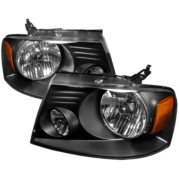 2004-2008 Ford F-150/ 2006-2008 Lincoln Mark LT Factory Style Headlights (Matte Black Housing/Clear Lens)