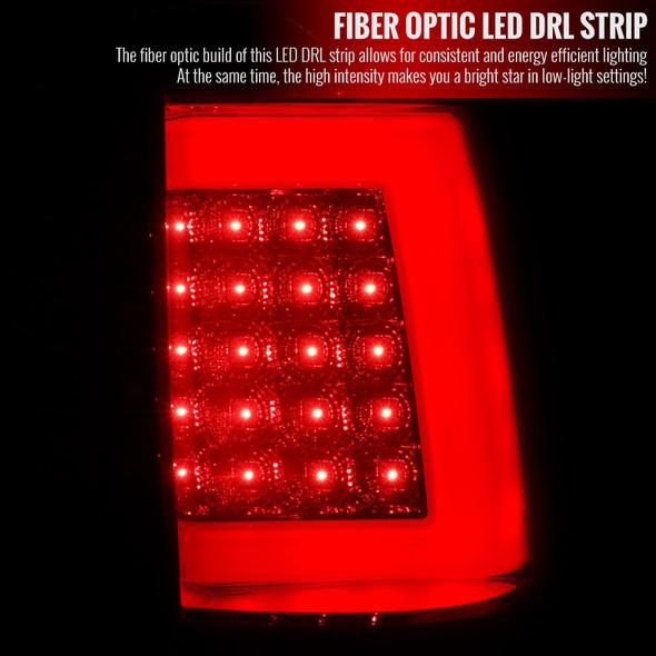 1999-2002 Chevrolet Silverado/ 1999-2003 GMC Sierra LED Tail Lights - G2 (Chrome Housing/Red Clear Lens)