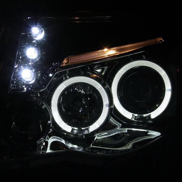 2005-2011 Toyota Tacoma Dual Halo Projector Headlights (Chrome Housing/Clear Lens)