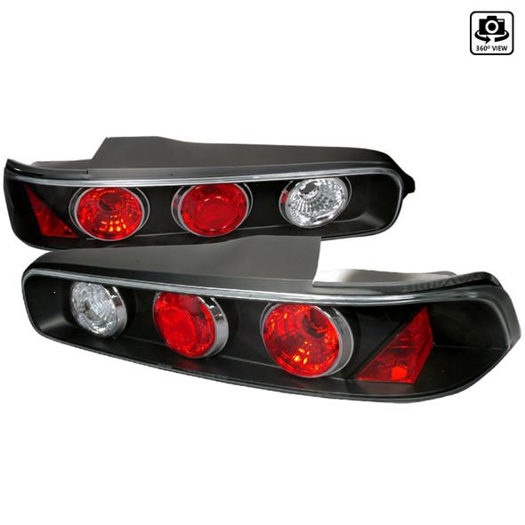 1994-2001 Acura Integra Hatchback Tail Lights (Matte Black Housing/Clear Lens)