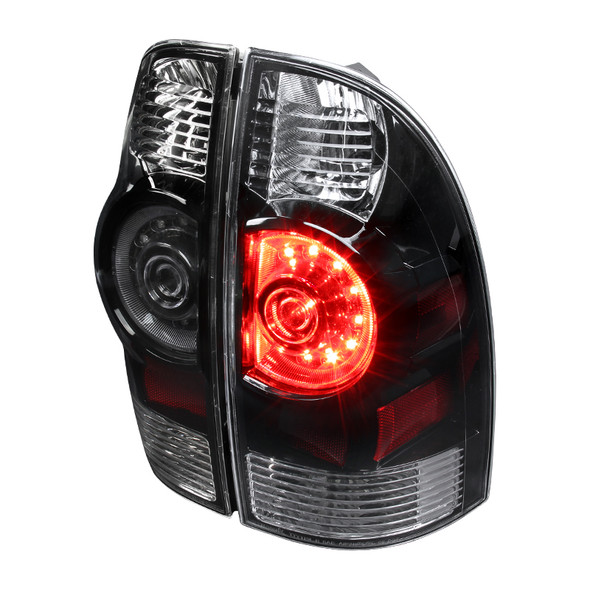2005-2015 Toyota Tacoma LED Tail Lights (Matte Black Housing/Clear Lens)