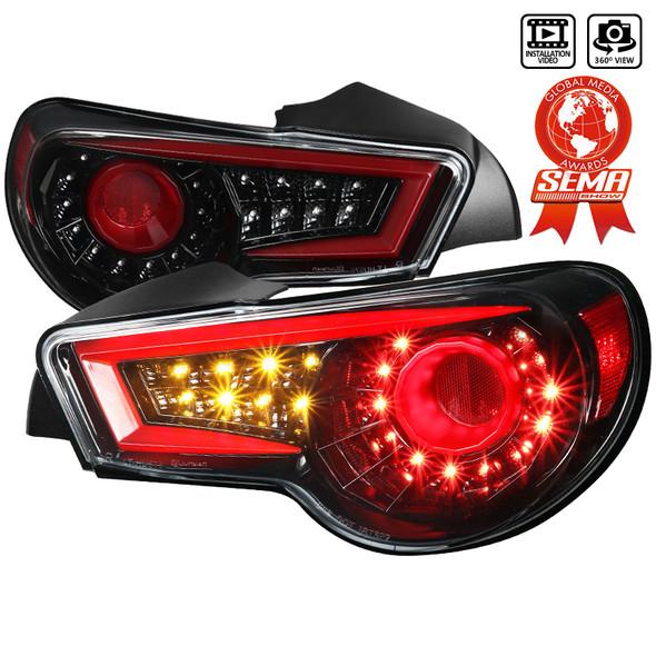 2012-2016 Scion FRS/ Subaru BRZ/ Toyota 86 LED Tail Lights (Jet Black Housing/Clear Lens)