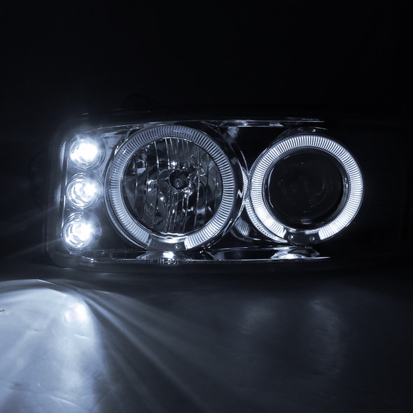 1999-2006 GMC Yukon/Sierra Projector Headlights (Chrome)