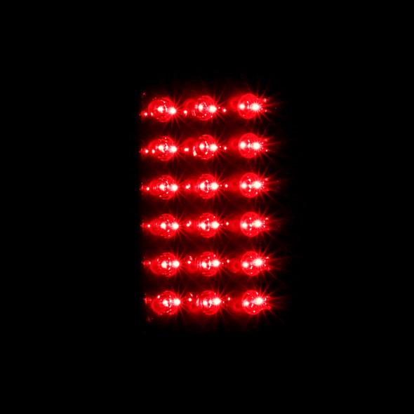 2002-2006 Dodge RAM LED Tail Lights (Glossy Black Housing/Smoke Lens)
