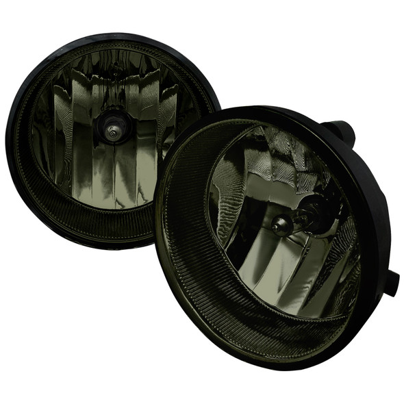 2004-2016 Toyota Sequoia/Tundra/Tacoma/Solara H10 Fog lights Kit (Chrome Housing/Smoke Lens)