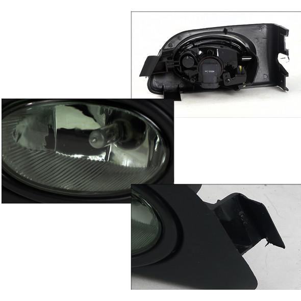 2001-2003 Honda Civic Coupe/Sedan H11 Fog Lights Kit (Chrome Housing/Smoke Lens)