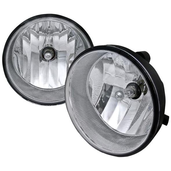 2004-2016 Toyota Tacoma/Solara/Tundra/Sequoia OEM Style Fog Lights (Chrome Housing/Clear Lens)