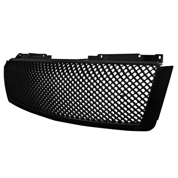 2007-2013 Chevrolet Avalanche/ 2007-2014 Tahoe Suburban Glossy Black ABS Honeycomb Mesh Grille