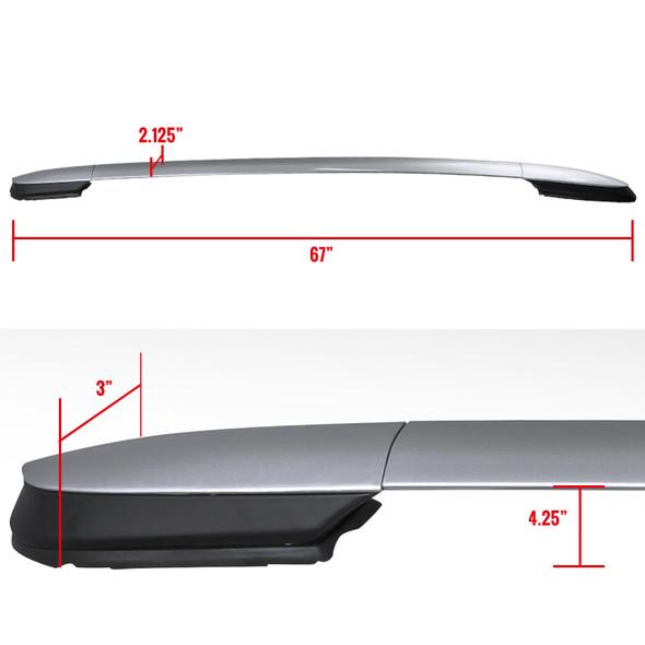 2013-2016 Toyota Rav4 Adjustable Roof Racks (Silver)