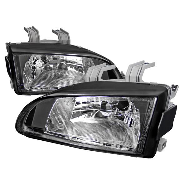 1992-1995 Honda Civic Factory Style Crystal Headlights (Matte Black Housing/Clear Lens)