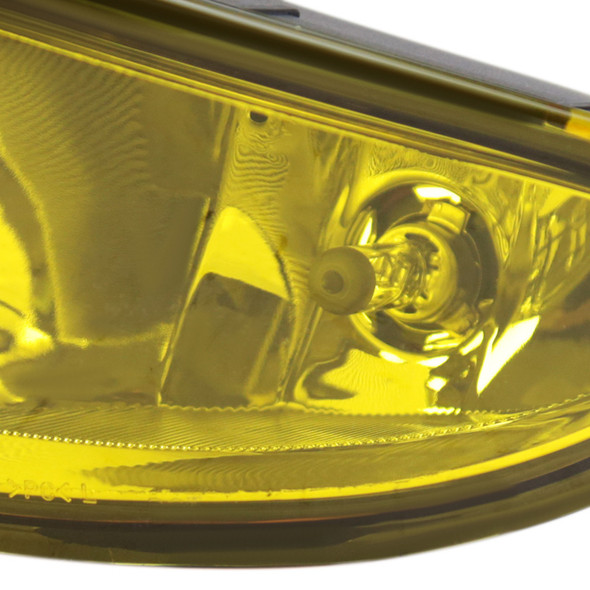 2004-2005 Honda Civic 2/4DR Front Bumper Fog Lights (Chrome Housing/Yellow Lens)