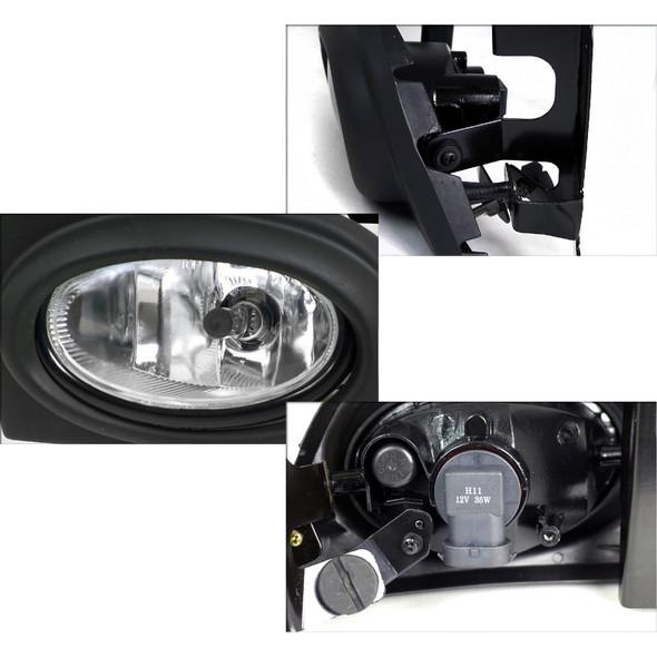 2006-2008 Honda Civic Sedan H11 Fog Lights (Chrome Housing/Clear Lens)