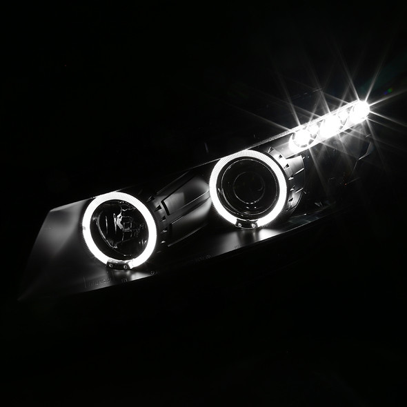 2008-2012 Honda Accord Coupe Dual Halo Projector Headlights (Matte Black Housing/Clear Lens)