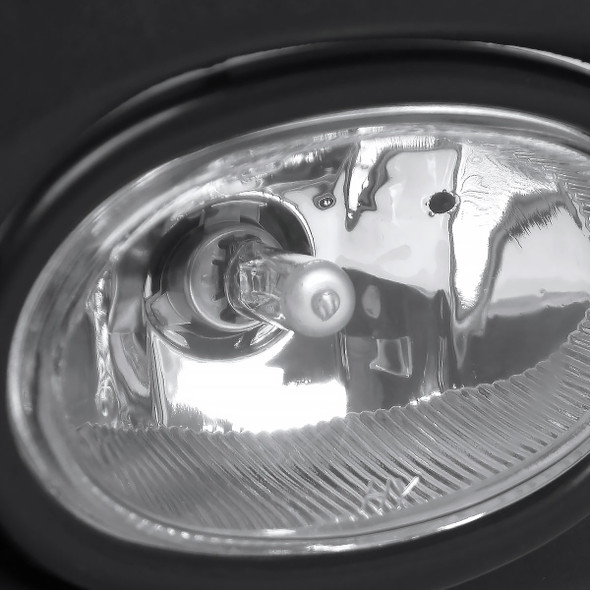 2001-2003 Honda Civic Coupe/Sedan H11 Fog Lights Kit (Chrome Housing/Clear Lens)