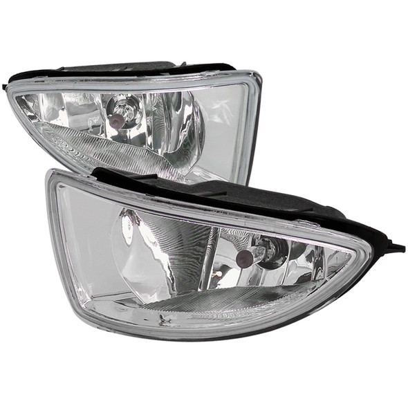 2004-2005 Honda Civic Coupe/Sedan H11 Fog Lights Kit (Chrome Housing/Clear Lens)