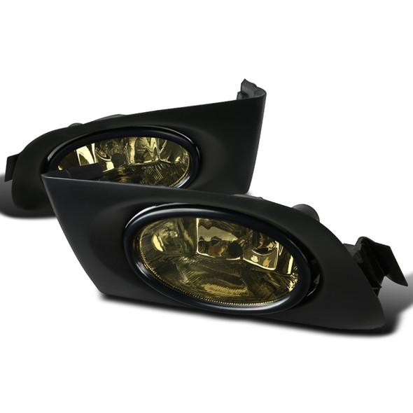 2001-2003 Honda Civic Coupe/Sedan 12V/55W H11 Fog Lights Kit (Chrome Housing/Smoke Lens)