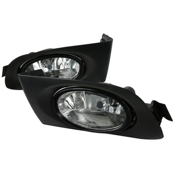 2001-2003 Honda Civic Coupe/Sedan 12V/55W H11 Fog Lights (Chrome Housing/Clear Lens)