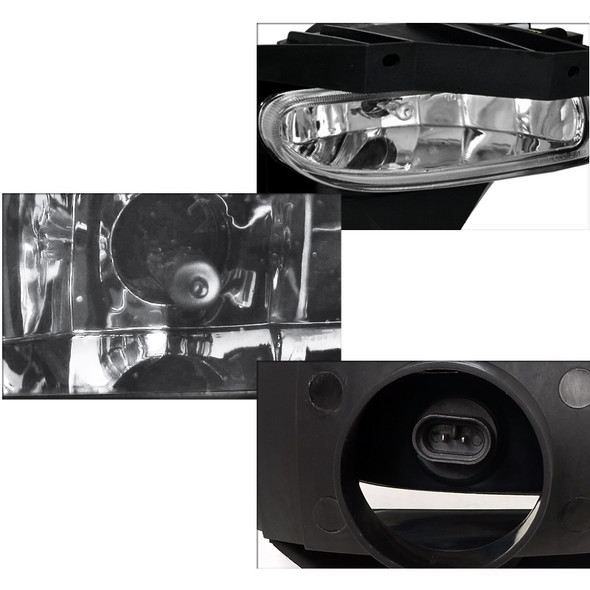 1999-2004 Ford Mustang Fog Lights (Chrome Housing/Clear Lens)