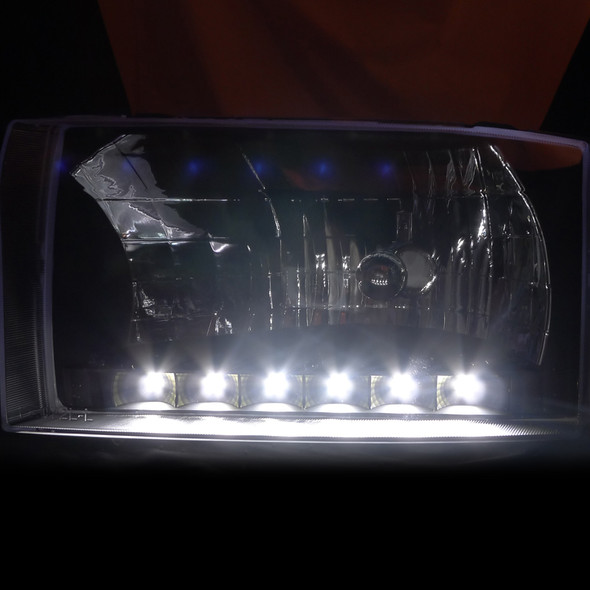 1999-2004 Ford F-250 SMD LED Factory style Headlights (Matte Black Housing/Clear Lens)
