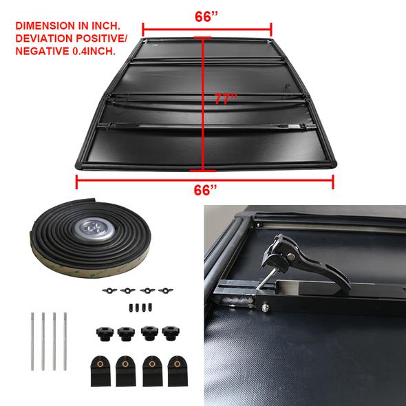 "2019-2020 Dodge RAM 1500 77"" Long Bed Tri-Fold Tonneau Cover"