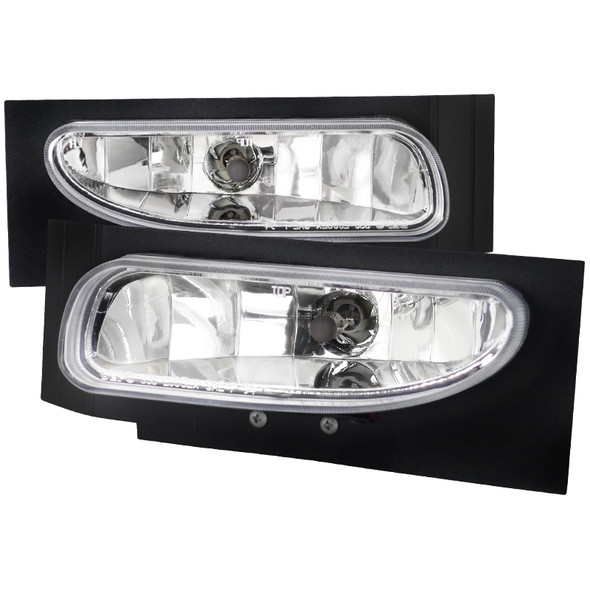 1994-1998 Ford Mustang V6 899 Fog Lights Kit (Chrome Housing/Clear Lens)