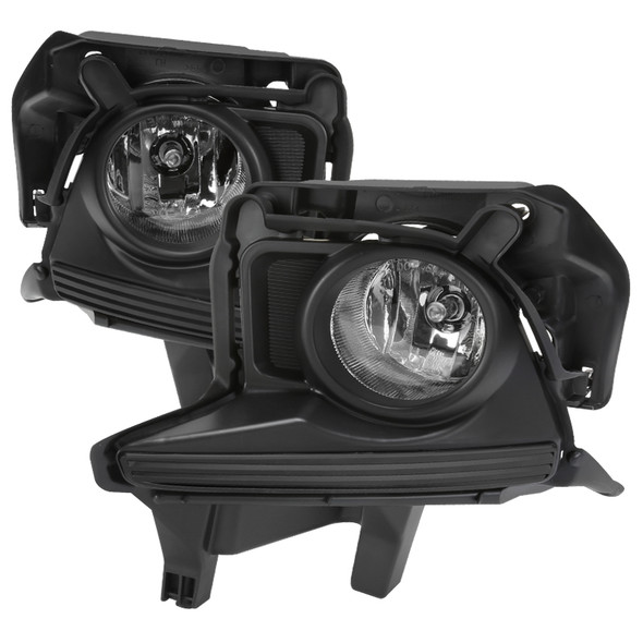 2014-2016 Toyota Highlander H16 Fog Lights Kit (Chrome Housing/Clear Lens)