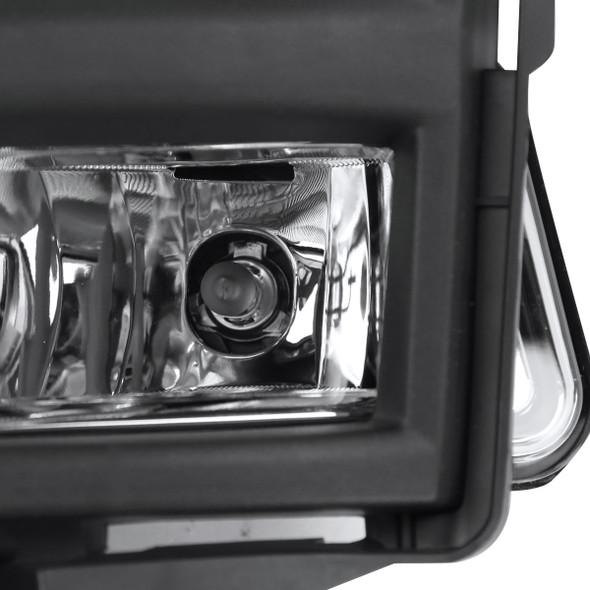 2017-2018 Nissan Rogue Fog Lights (Chrome Housing/Clear Lens)