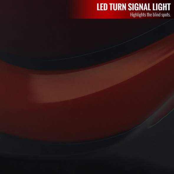 2016-2020 Honda Civic Sedan V2 LED Tail Lights w/ Sequential Turn Signal Lights (Glossy Black Housing/Smoke Lens)