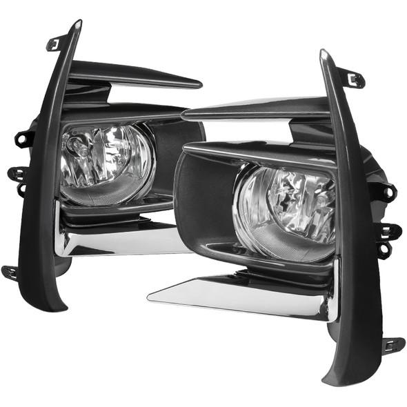 2018-2019 Toyota Sienna 12V/55W H11 Fog Lights Kit - HZ (Chrome Housing/Clear Lens)