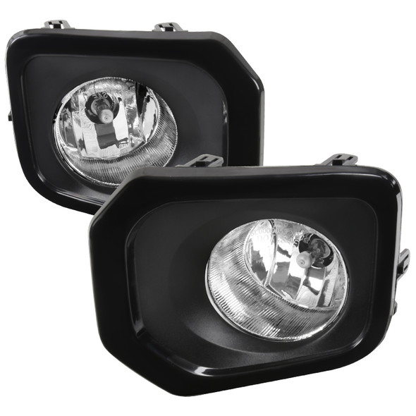 2016-2018 Toyota Tacoma H16 Black Cover Fog Lights Kit (Chrome Housing/Clear Lens)
