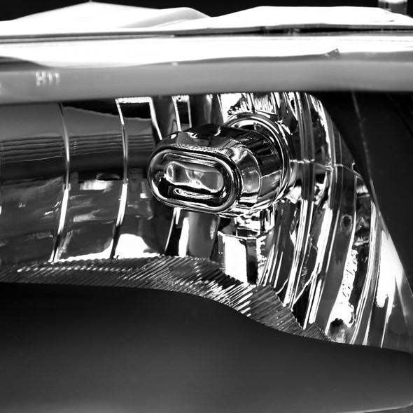 2009-2018 Dodge RAM 1500/2500/3500 Quad Style Headlights w/ Amber Reflectors (Matte Black Housing/Clear Lens)