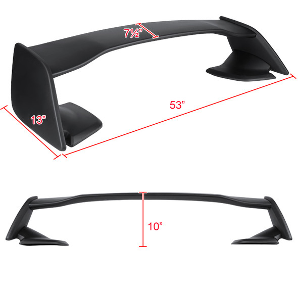 2008-2014 Subaru Impreza WRX/STI/2.5i Sedan Matte Black ABS 5PC Rear Trunk Spoiler Wing