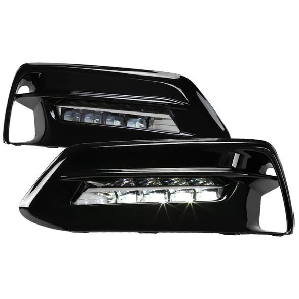 2018-2020 Honda Accord LED Fog Lights Kit w/ Switch & Wiring Harness (Chrome Housing/Clear Lens)