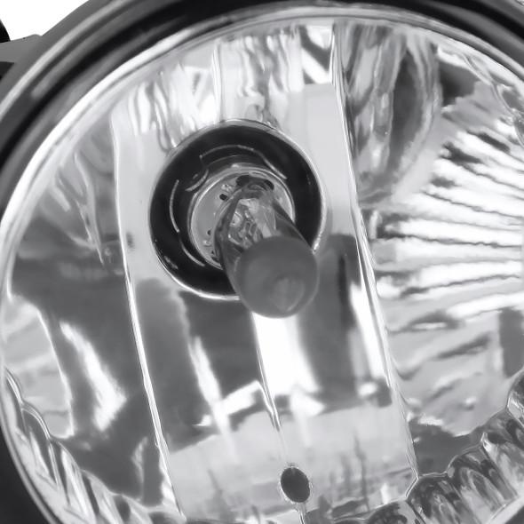 2000-2009 Toyota Echo/Highlander/Prius 9006 Fog Lights Kit w/ Switch & Wiring Harness (Chrome Housing/Clear Lens)