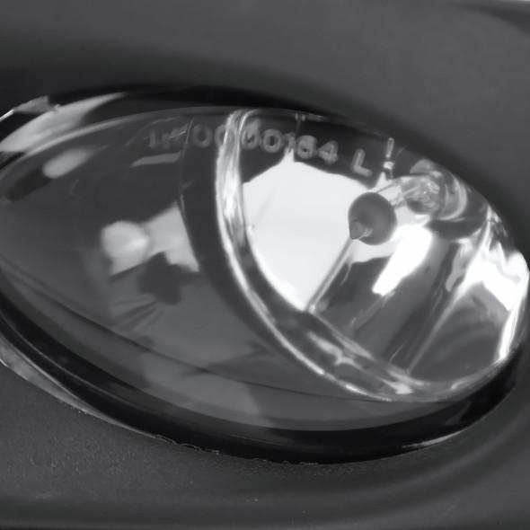 2011-2014 Volkswagen Jetta Sedan 9006 Fog Lights Kit w/ Switch & Wiring Harness (Chrome Housing/Clear Lens)