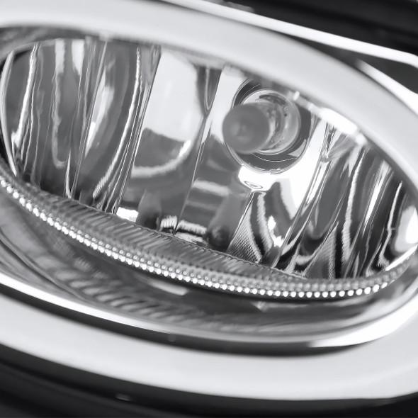 2016-2018 Honda HR-V/Vezel H8 Fog Lights Kit w/ Switch & Wiring Harness (Chrome Housing/Clear Lens)