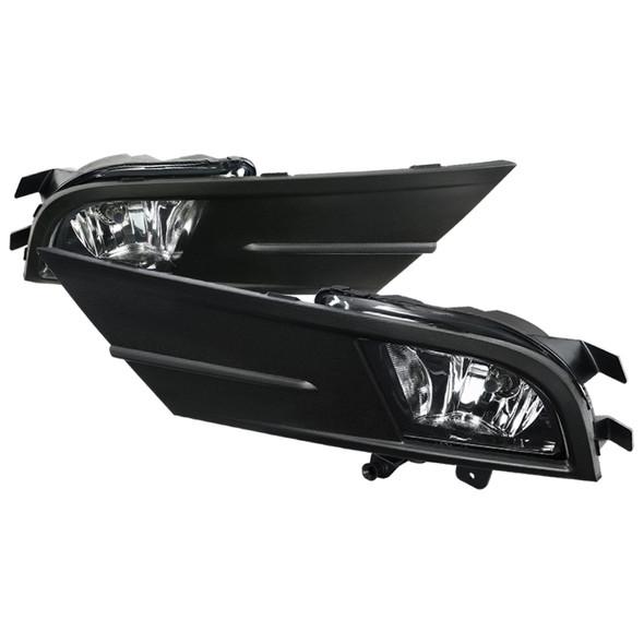 2015-2018 Volkswagen Jetta H8 Fog Lights Kit w/ Switch & Wiring Harness (Chrome Housing/Clear Lens)