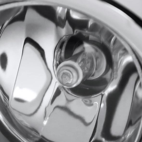 2008-2011 Toyota Highlander H11 Fog Lights Kit w/ Switch & Wiring Harness (Chrome Housing/Clear Lens)
