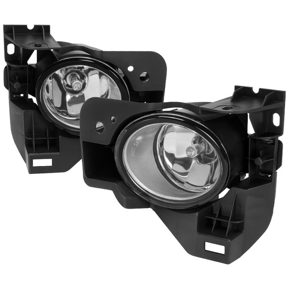 2009-2014 Nissan Maxima H11 Fog Lights Kit w/ Switch & Wiring Harness (Chrome Housing/Clear Lens)